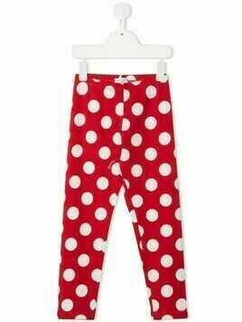 Monnalisa polka-dot print leggings - Red