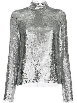 MSGM sequinned top - Grey