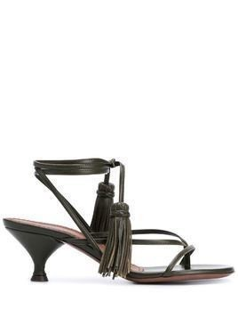 L'Autre Chose tassel-detail 65mm strappy sandals - Green