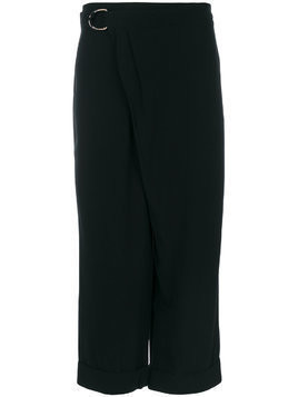I'M Isola Marras crossover front trousers - Black