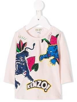 Kenzo Kids jungle T-shirt - Pink & Purple