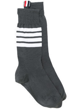 Thom Browne 4-Bar stripe socks - Grey
