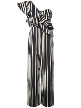 Alice+Olivia striped one shoulder jumpsuit - Multicolour