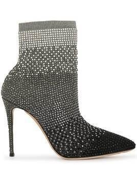 Casadei pointed-toe ankle boots - Silver