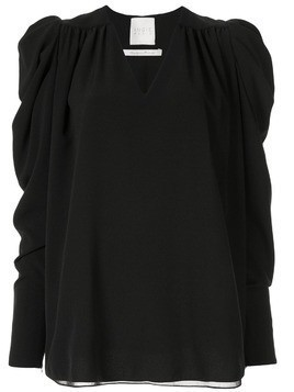 Ingie Paris V-neck long-sleeved top - Black