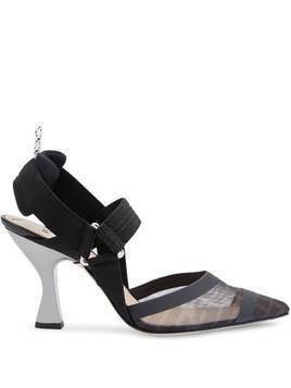 Fendi FF slingback pumps - Black
