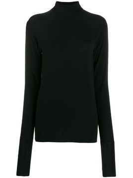 Haider Ackermann fine knit roll neck - Black