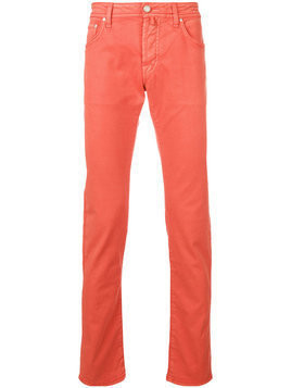Jacob Cohen - PW622 COMF-01023661 - Herren - Cotton/Polyester/Spandex/Elastane - 35 - Yellow & Orange