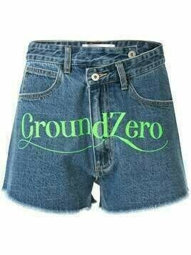 Ground Zero high rise denim shorts - Blue