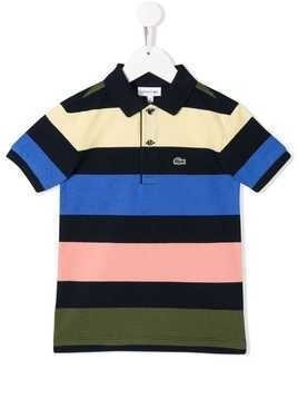 Lacoste Kids striped polo top - Blue