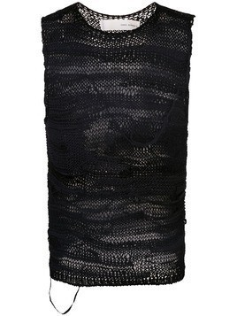 Isabel Benenato knitted vest - Black