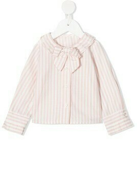 Lapin House striped bow shirt - PINK