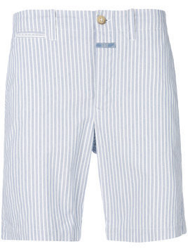 Closed striped shorts - Blue