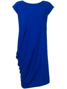 Issey Miyake gathered hem midi dress - Blue