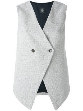 Eleventy sleeveless gilet - Grey