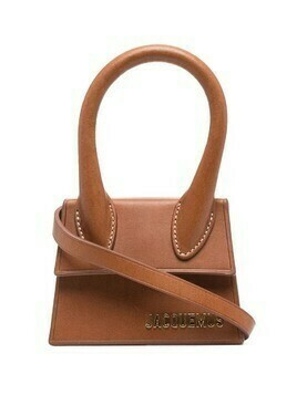 Jacquemus logo-plaque mini bag - Brown