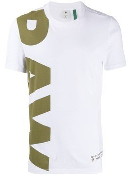 G-Star Raw Research logo print crew neck T-shirt - White