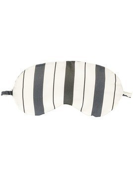 Asceno striped eye mask - White