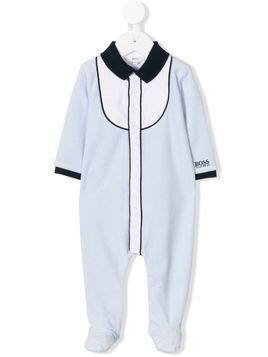 Boss Kids logo embroidered pajamas - Blue