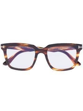 Tom Ford Eyewear Marco tortoiseshell-effect square sunglasses - Brown