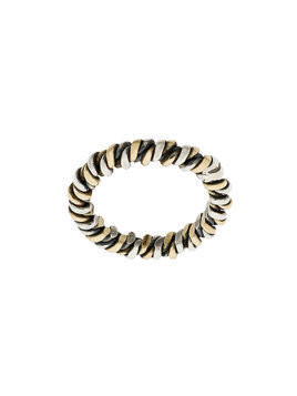 Ugo Cacciatori interwoven ring - Metallic