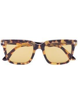 Tom Ford Eyewear Marco tortoiseshell-effect sunglasses - Brown