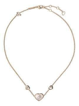 Chopard 18kt rose gold, diamond Happy Hearts neckace - PINK