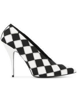 Stella McCartney check pointed toe pumps - Black