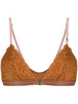 Love Stories cut out lace detail bra - Brown