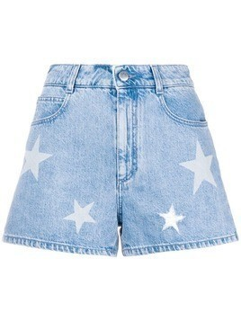 Stella McCartney denim Star shorts - Blue
