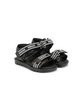 Versace Versace ribbon sandals - Black