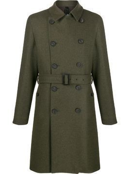Hevo belted trench coat - Green