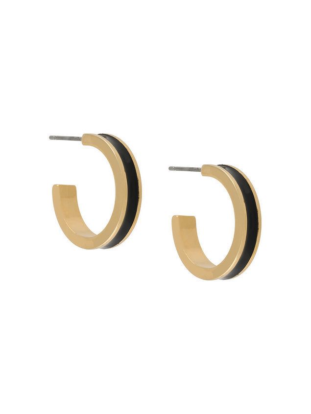 Isabel Marant resin hoop earrings - Black