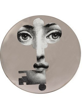 Fornasetti key face wall plate - Grey