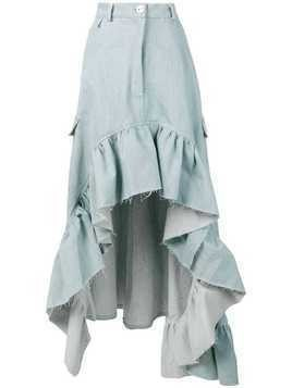 Barbara Bologna asymmetric hem denim skirt - Blue