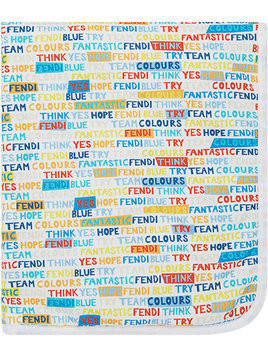 Fendi Kids motivational blanket - Blue