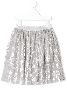 Stella McCartney Kids star print tulle skirt - Grey