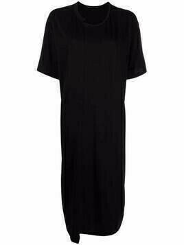 Y's long cotton T-shirt dress - Black