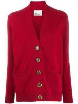 Aragona oversized button cardigan - Red