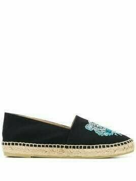 Kenzo embroidered tiger espadrilles - Black
