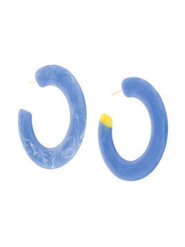 Cult Gaia oversized hoop earrings - Blue
