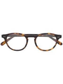 Lesca oval frame glasses - Brown