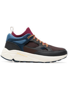Brand Black - Multicoloured Aura leather sneakers - Herren - Leather/Polyester/rubber - 10 - Brown