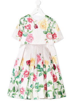 Love Made Love floral print pleated dress - Pink