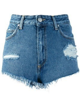 Don't Cry denim short shorts - Blue