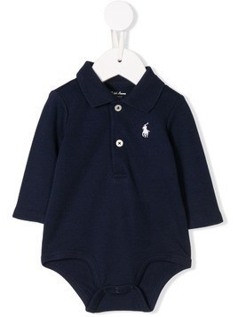 Ralph Lauren Kids logo embroidered polo body - Blue
