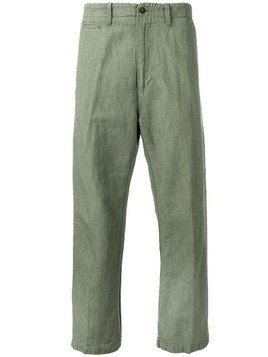 East Harbour Surplus straight-leg tailored trousers - Green