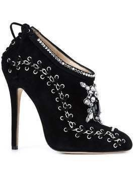 Marchesa 'Harper' embroidered boots - Black