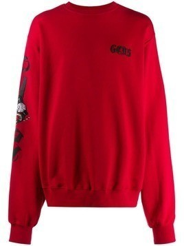 Gcds graphic sweatshirt - Red