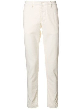 Al Duca D'Aosta 1902 slim-fit corduroy trousers - White